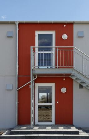Beton-Betz-Wohnmodul-Eingangsbereich